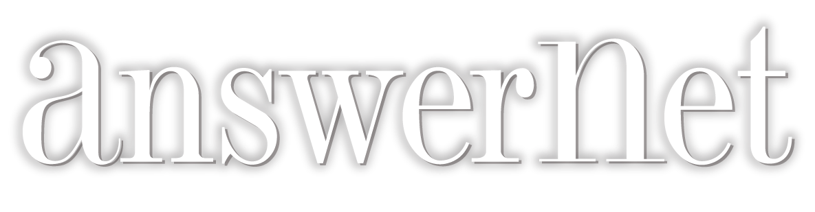 answernet logo with dropshadow