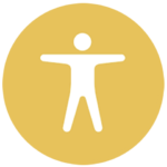 gold icon with accessibility symbol