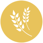 gold icon with art of grain