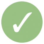 green icon with check mark