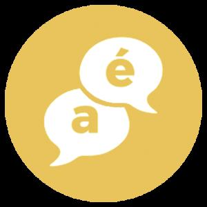 gold multilingual icon