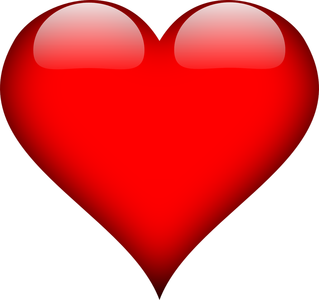 a bold red heart