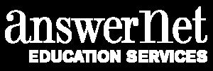 answernet education services white logo