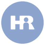 blue icon with the letters HR