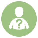green icon with person and question mark