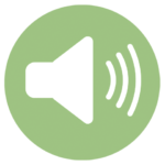 green icon with speaker
