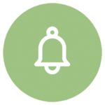 green icon with bell