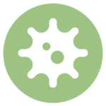 green icon with spiny virus