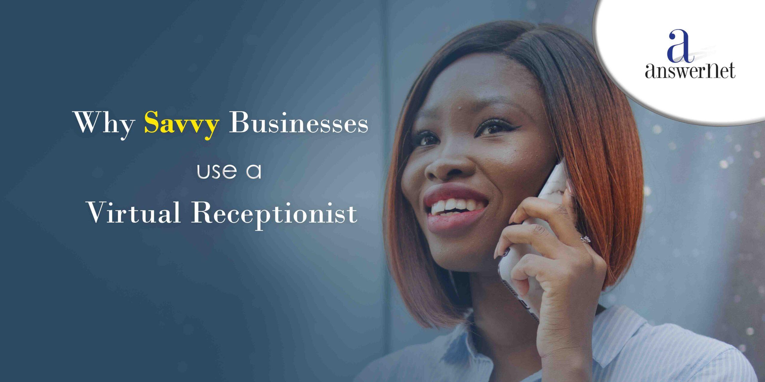Virtual Receptionist woman on phone