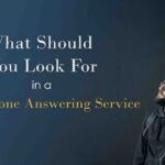 telephone answering service - man in the dark looking up at the title